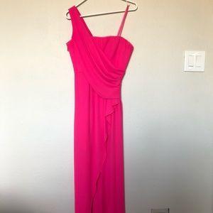 BCBGMaxAzria Pink One Shoulder Dress, Size 4